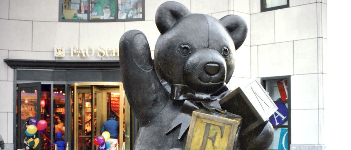 Bronze FAO Schwartz Bear in Boston